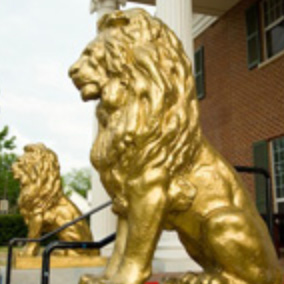 SMUSAE Chapter House Entrance Lion Statue